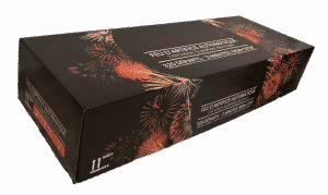 Ceci est l'image d'un feu d'artifice automatique Pyrobox 320 - produit phare de la gamme Pyrobox Artifices, LE spécialiste de l'artifice de divertissement dans tout le Massif central - www.pyrobox-artifices.com