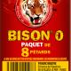 Ceci est l'image du paquet de 8 pétards Bison 0 de la gamme Pyragric - produit de la gamme Le Tigre Pyragric disponible sur la boutique - www.pyrobox-artifices.com