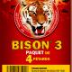 Ceci est l'image d'un paquet de 4 pétards Bison 3 de la gamme Pyragric - produit de la gamme Le Tigre Pyragric disponible sur la boutique - www.pyrobox-artifices.com