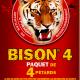Ceci est l'image d'un paquet de 4 pétards Bison 4 de la gamme Pyragric - produit de la gamme Le Tigre Pyragric disponible sur la boutique - www.pyrobox-artifices.com